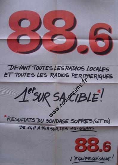 88 6 1ere sur sa cible Sofres oct 1985