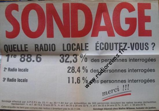 88 6 sondage nov 1984