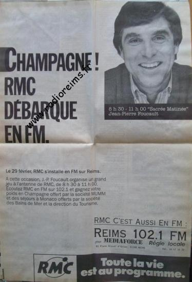 Arrivée RMC Champagne
