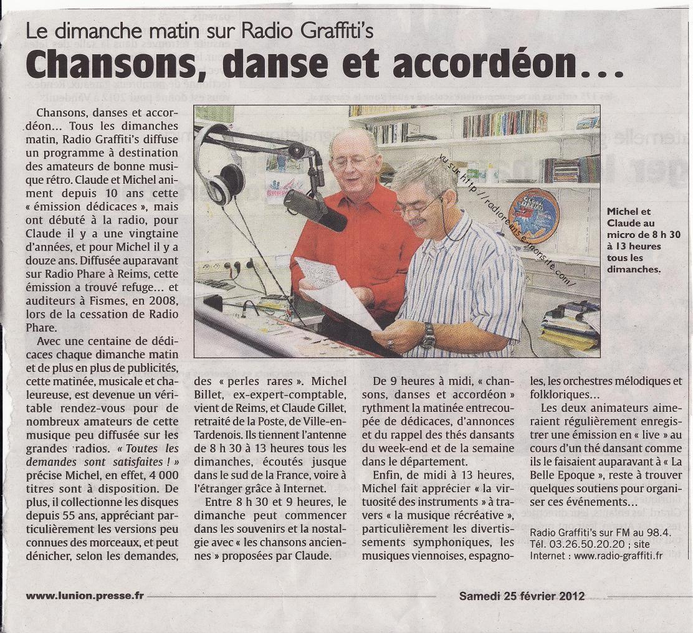 Article l'Union fév 2012