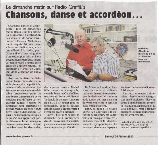 Article l'Union fév 2012