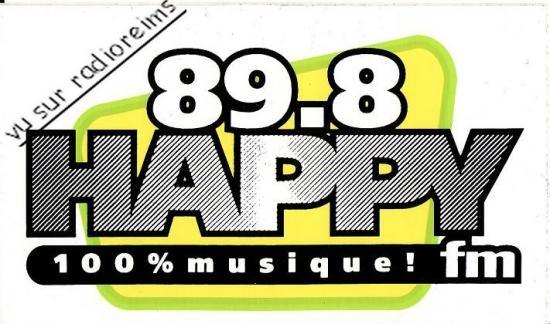 Autocollant Happy FM  Reims