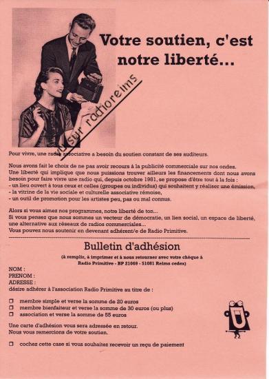 Bulletin soutien Primitive 2013