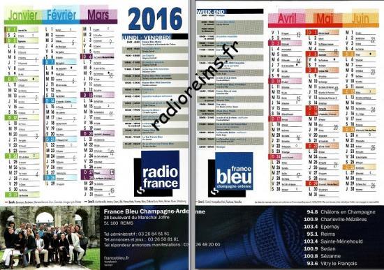 Calendrier FB 2016