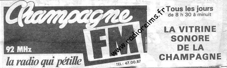Champ FM 92 vitrine