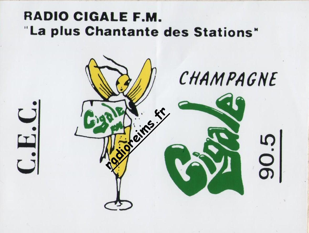 Autocollant Cigale FM/CEC