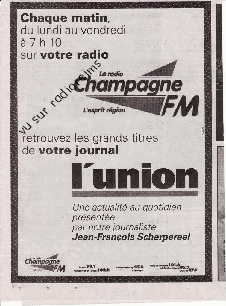 Collaboration info l'Union  Champ FM mars 2009