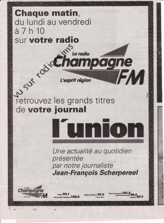 Collaboration info l'Union  Champ FM mars 2009