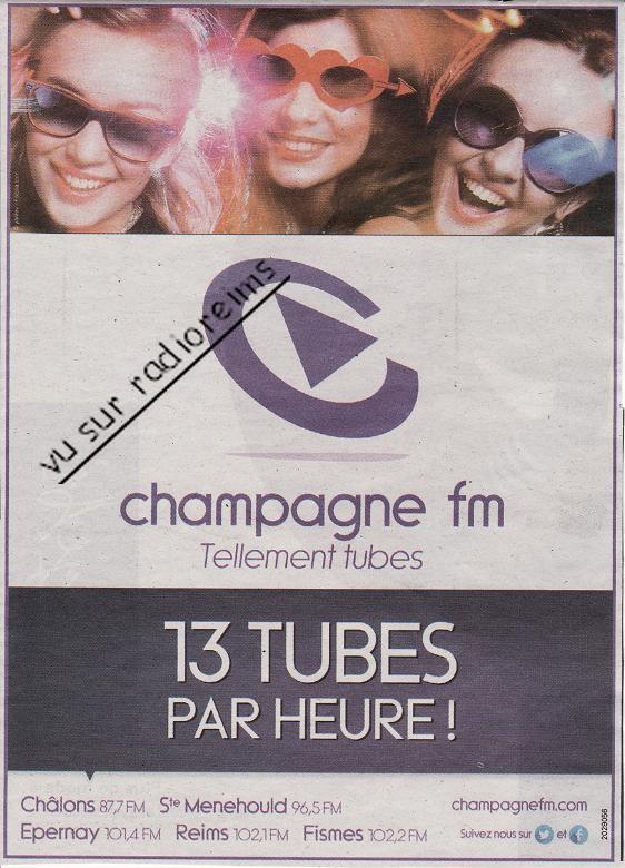 Pub Champagne FM Marne 2013