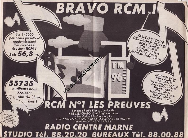 Sondage RCM janvier 84