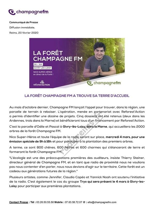 CP Forêt Champagne FM