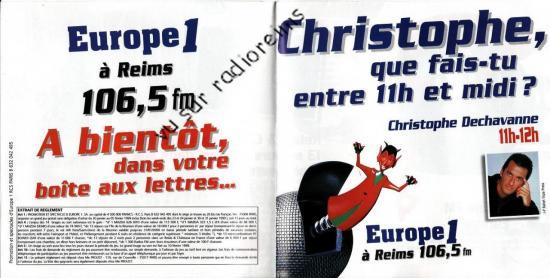 Jeu Europe 1 Reims 1999
