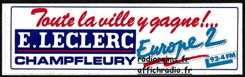 Autocollant Europe 2 - Leclerc Champfleury
