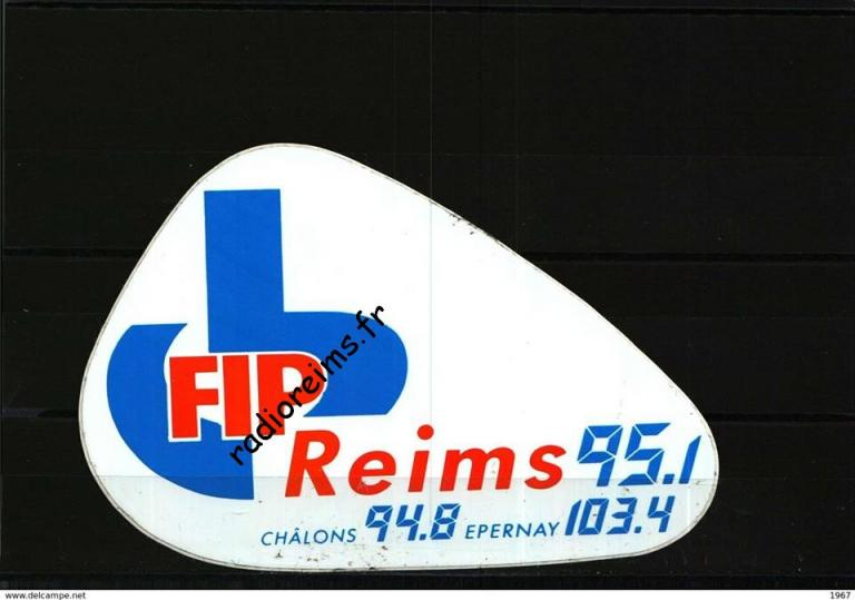 FIP Reims autocollant 3 fréquences