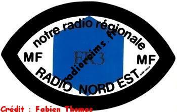 Autocollant FR3 Radio Nord Est (crédit : Fabien Thomas)