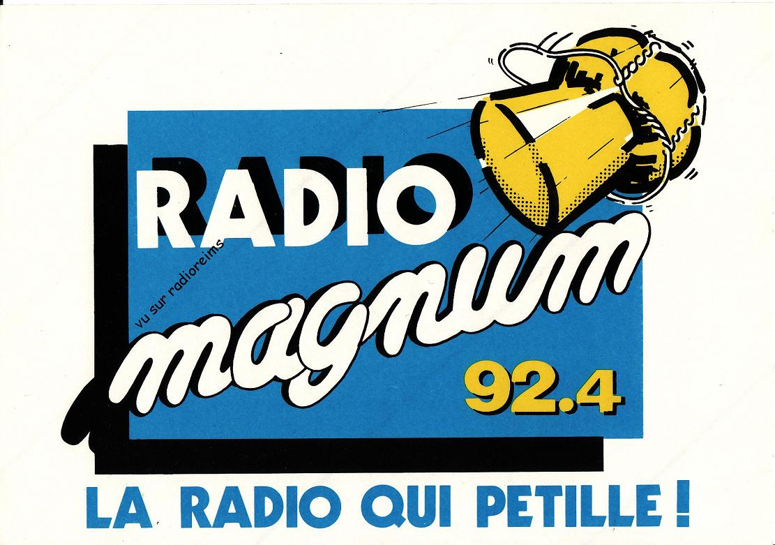 Grand autocollant Magnum 92.4