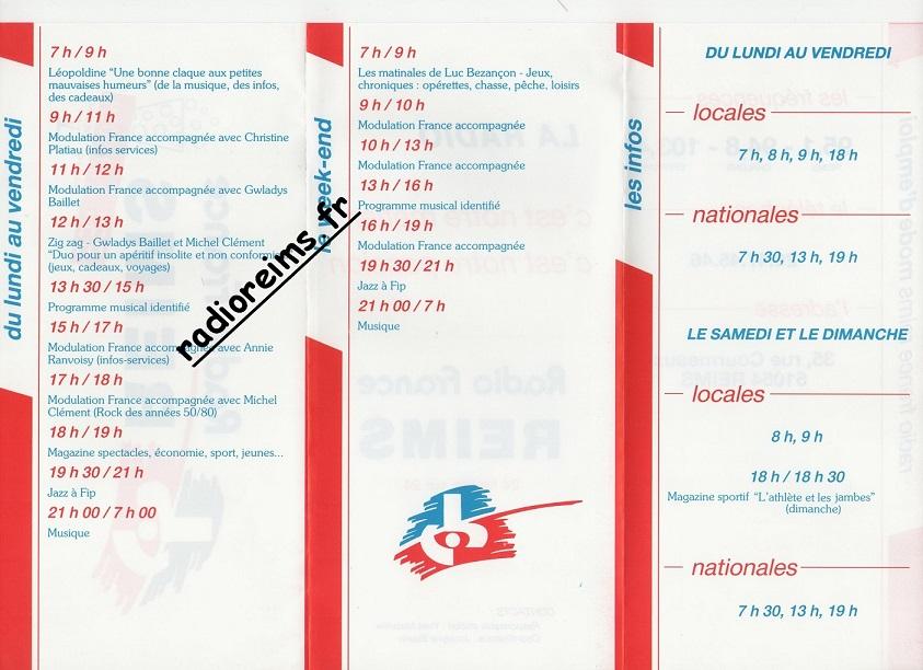 Grille Radio France Reims 88 89 part 1