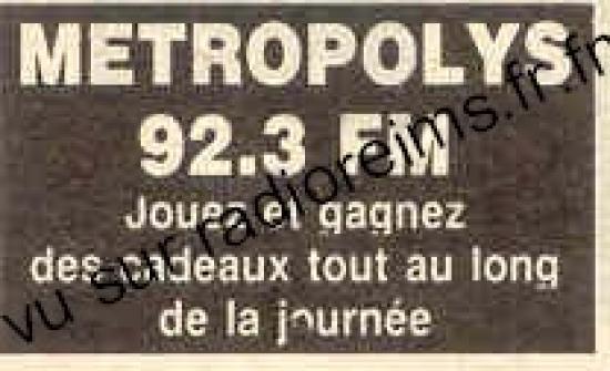Métropolys (celle du 92.3)