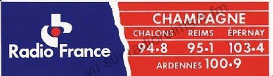 Autocollant Radio France Champagne (avec les Ardennes)