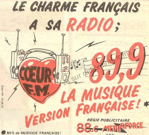 RMS / Tendr'FM / Coeur FM / Nostalgie / Europe 2 / Virgin