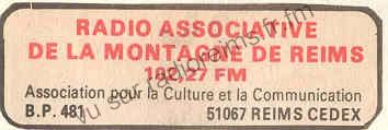 Autre pub Radio Associative de la Montagne de Reims