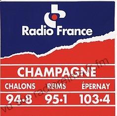 Autocollant Radio France Champagne (sans les Ardennes)