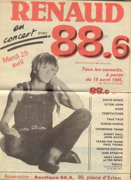 Les concerts 88.6