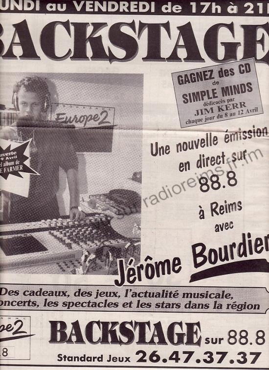 Backstage avec le très bon Jérôme Bourdier (désolé la pub était trop g