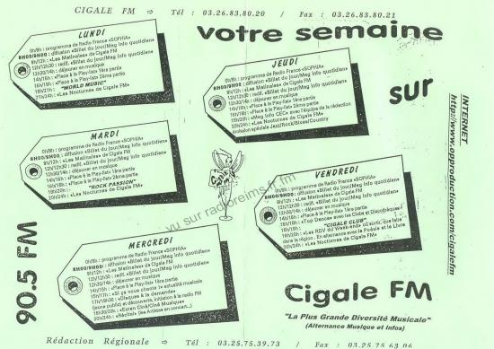 Programmes de Cigale FM
