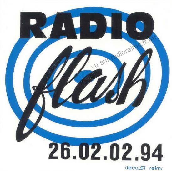 Autocollant Radio Flash