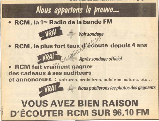 Guéguerre RCM - 88.6 (suite)