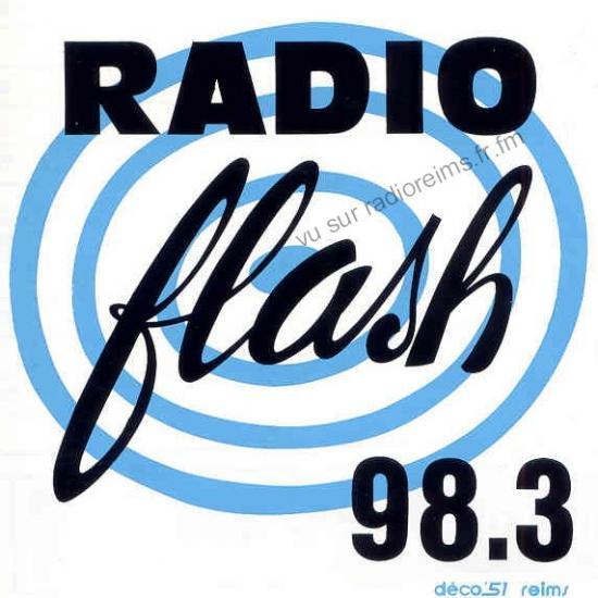 Autocollant Radio Flash avec la fréquence