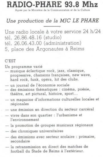 Présentation Radio Phare