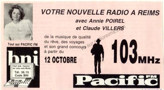 Pub pour l'arrivée de Pacific FM à Reims
