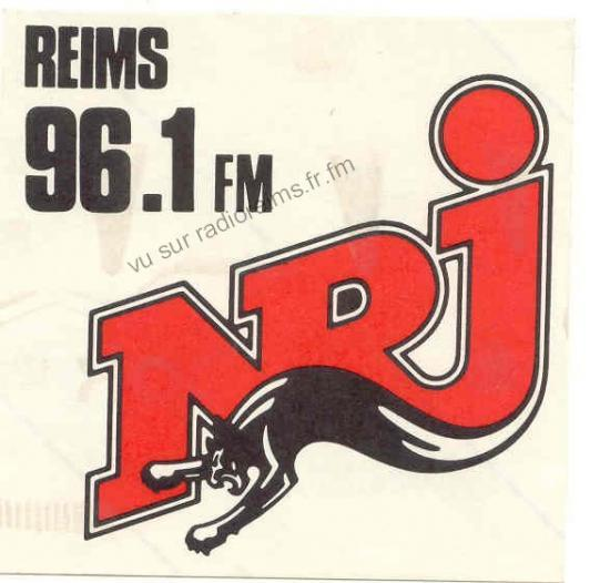 Autocollant NRJ Reims