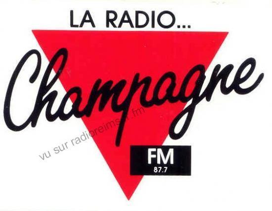 Autocollant Champagne FM à Châlons