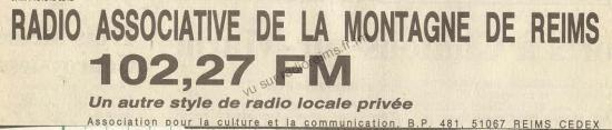 Pub Radio Associative de la Montagne de Reims