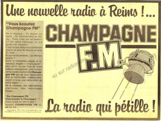 Les débuts de Champagne FM