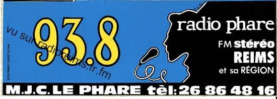 Autocollant Radio Phare 93.8