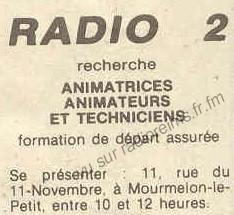 Radio 2 CA recrute