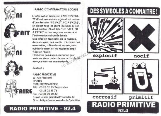 Une émission de Radio Primitive