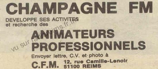 Champagne FM recrute