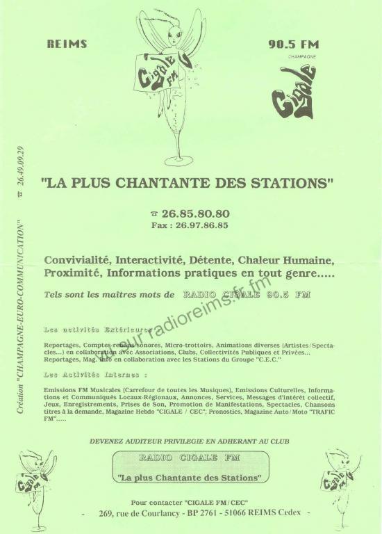 Présentation de Cigale FM