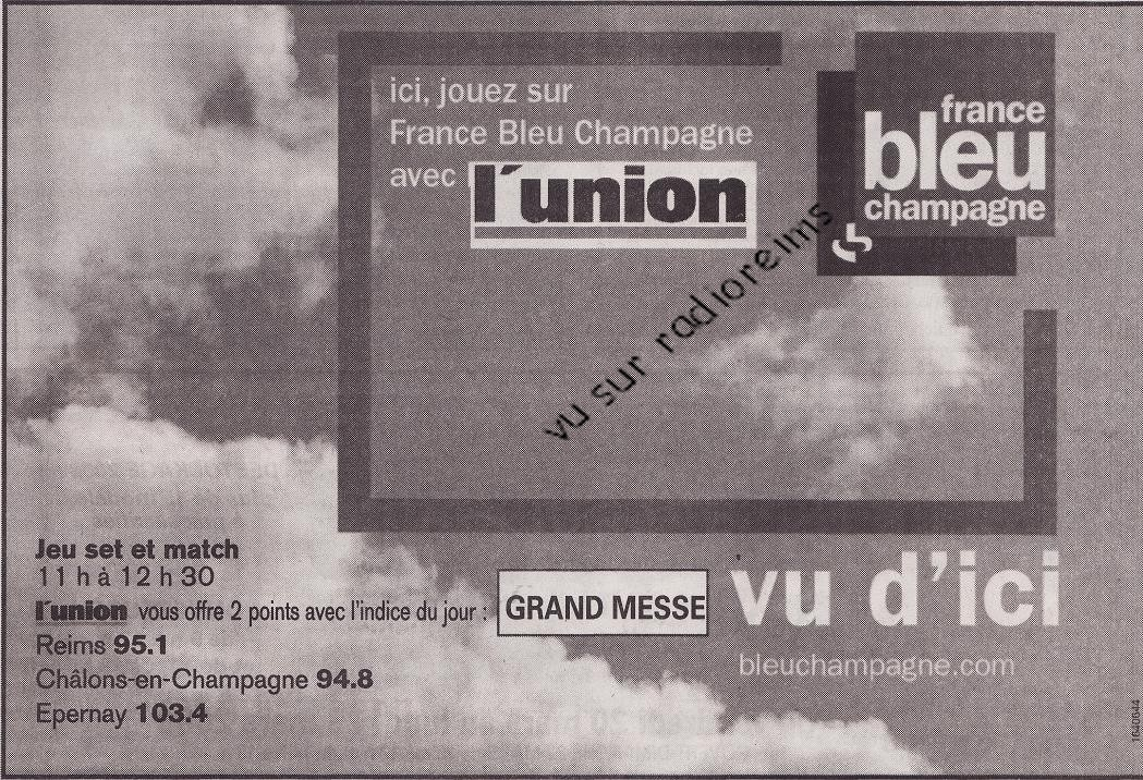 Jeu l'Union France Bleu mars 2009