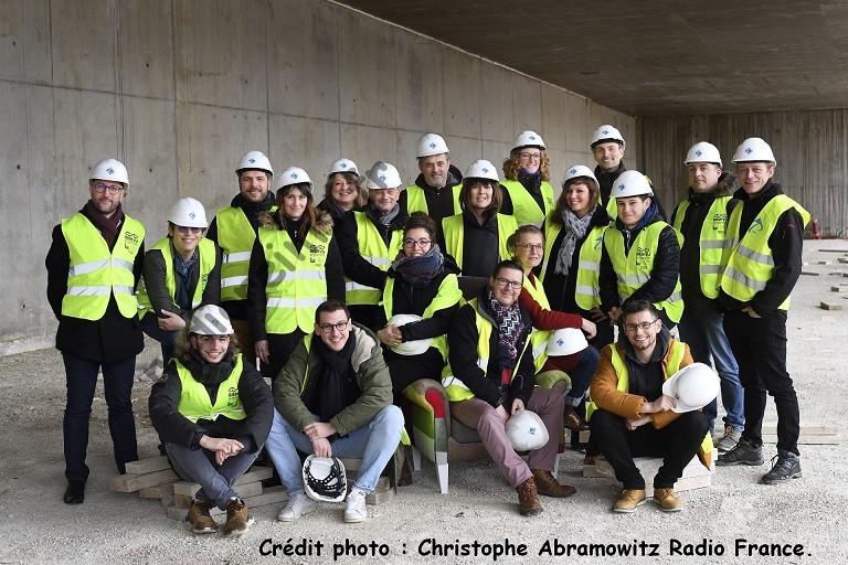 L'équipe France Bleu dans les futurs locaux - mars 2020