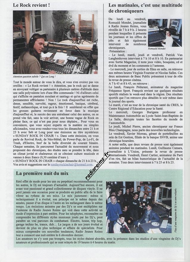 Le Mag RJR 2003 2