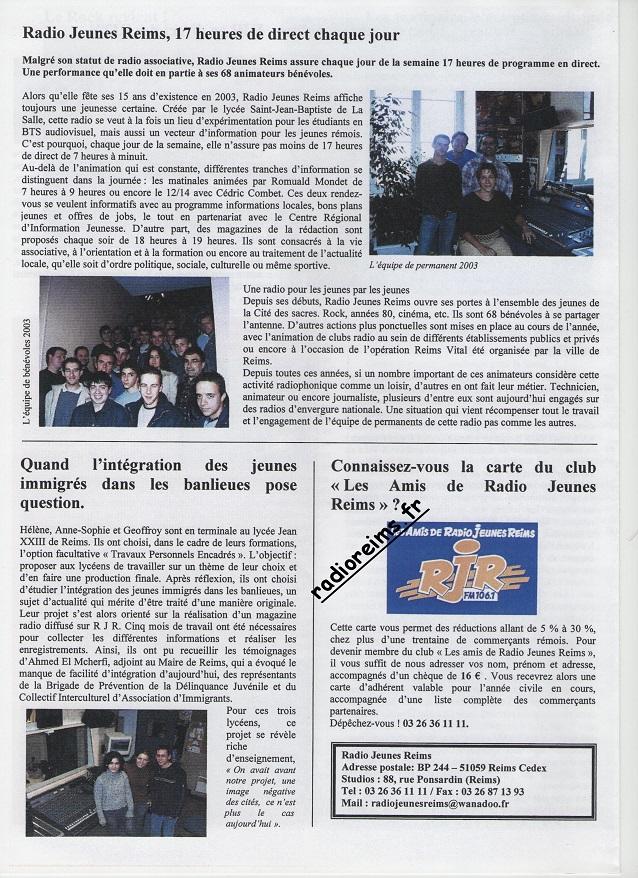 Le Mag RJR 2003 4