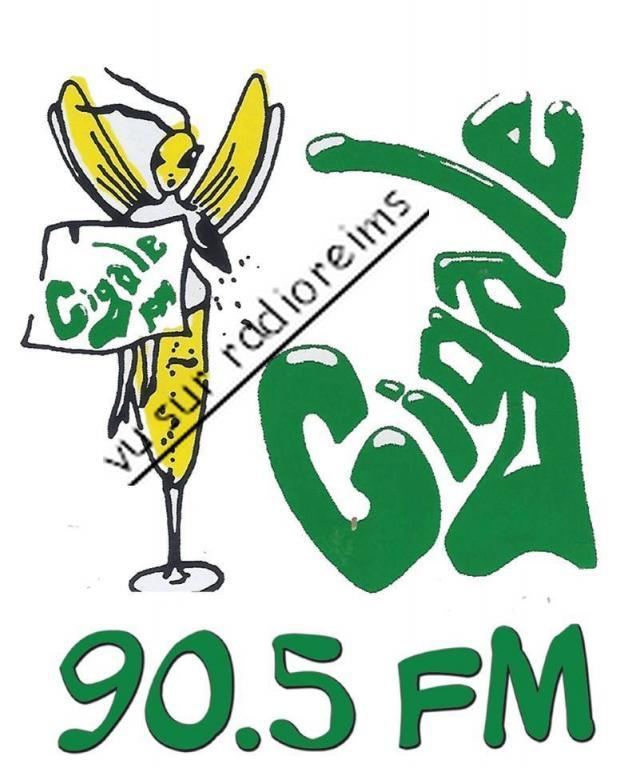 Logo Cigale FM avec fréquence