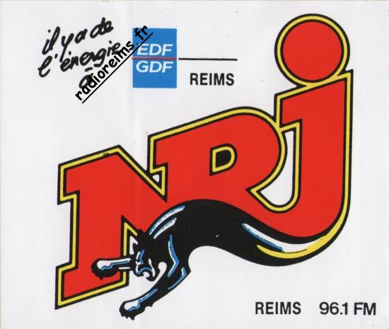 Autocollant NRJ Reims/EDF