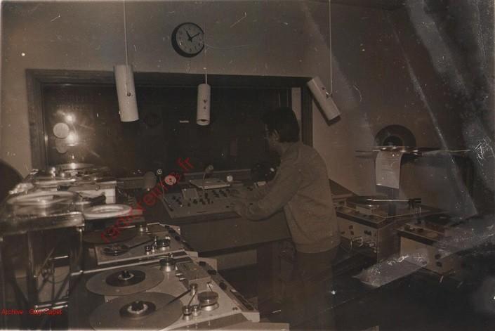 Photo de la régie de Radio Nord Est à Reims